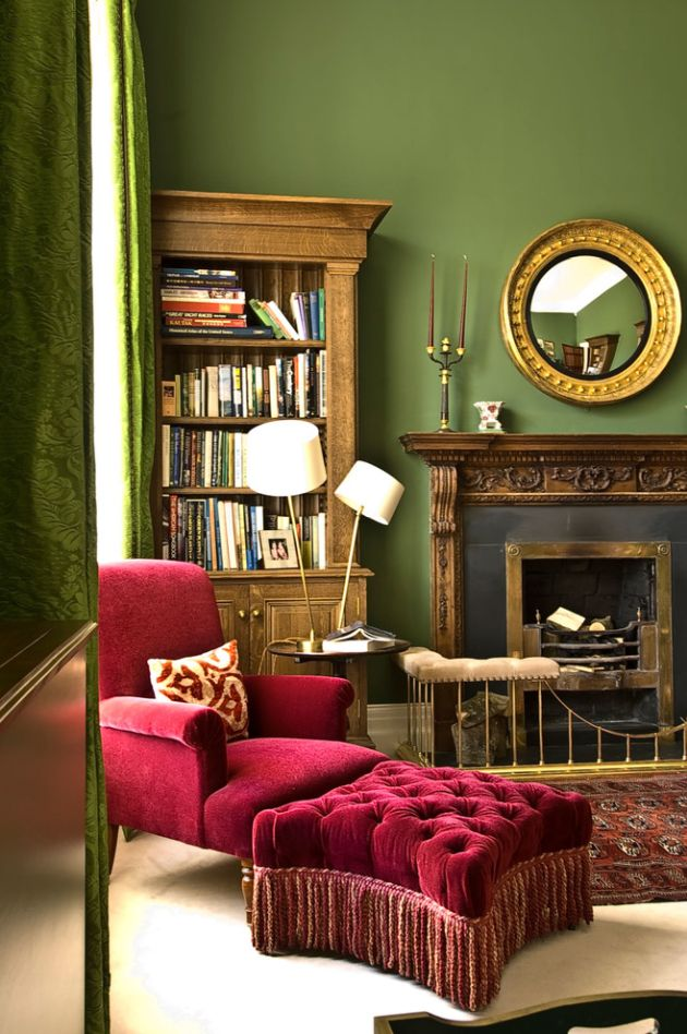 Traditional Green Living Room Design Ideas By Fiona Campbell Design