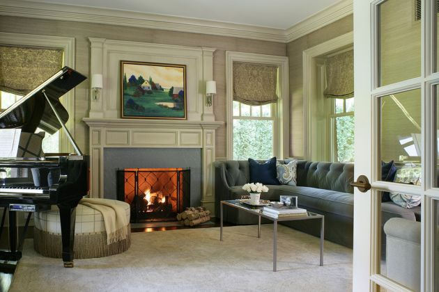 Traditional Green Living Room Design Ideas By Valerie Grant Interiors
