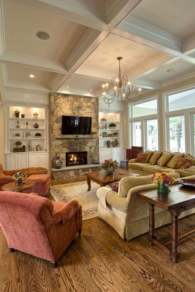 Traditional Living Room Ideas By Oak Hill Building & Remodeling