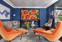 Traditional Orange Living Room Design Ideas By Diana L. Frucci ASID