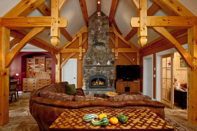 Traditional Orange Living Room Design Ideas By PATCO Construction, Inc.