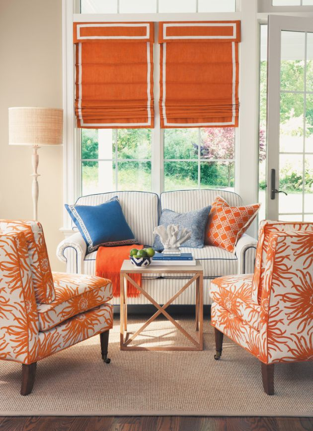 Traditional Orange Living Room Design Ideas By Unknown