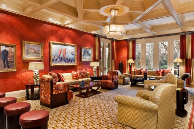 Traditional Red Living Room Design Ideas By E. B. Mahoney Builders, Inc.