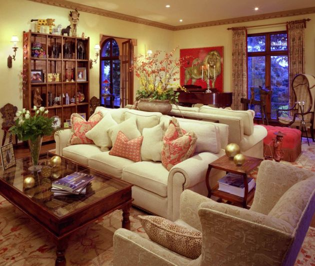 Traditional Red Living Room Design Ideas By Jan Gunn Interior Architecture and Design