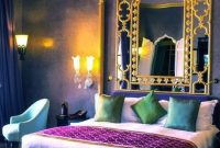 Colorful Moroccan Bedroom In Purple, Blue And Emerald