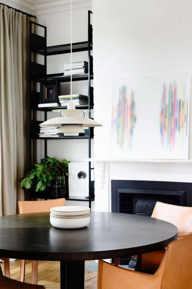 Fireplace Decorating Ideas With Abstract Artwork On The Mantel