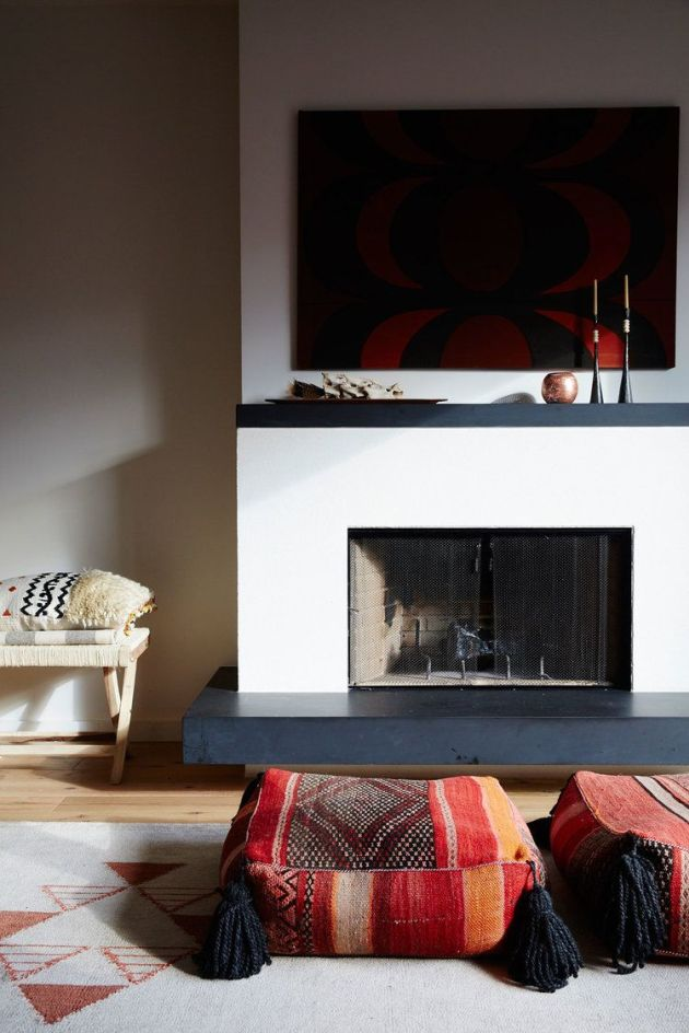 Fireplace Decorating Ideas With Floor Cushions