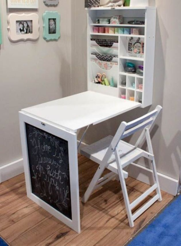 Large Murphy Desk With A Chalkboard And Much Storage Space