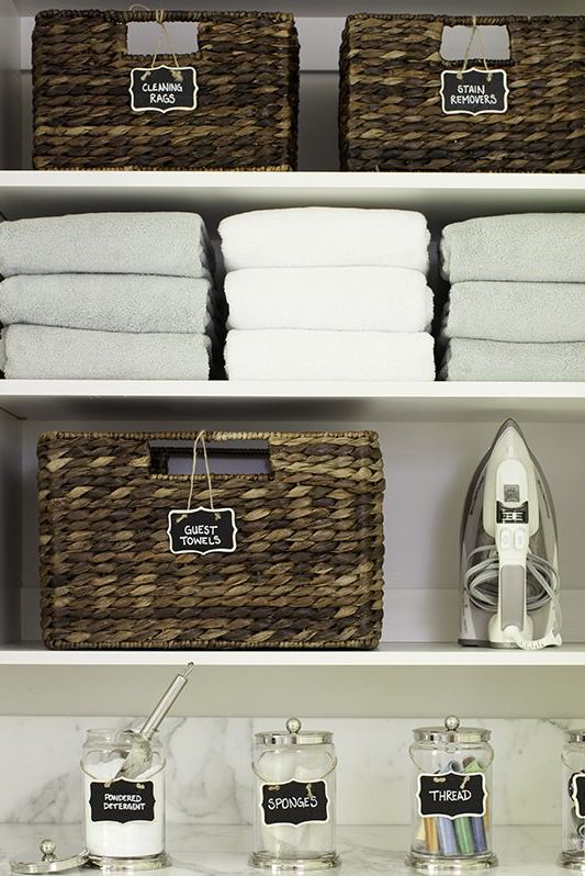 Laundry Room Design Ideas By Labeling Everything