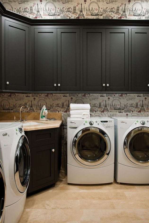 Laundry Room Design Ideas With French-Inspired Accent