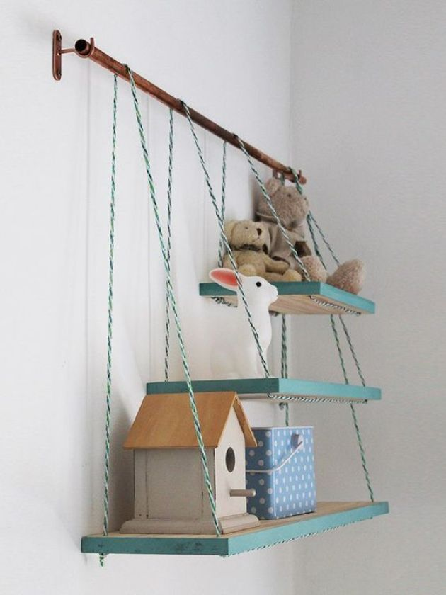 Metal Holder With Several Matching Shelves
