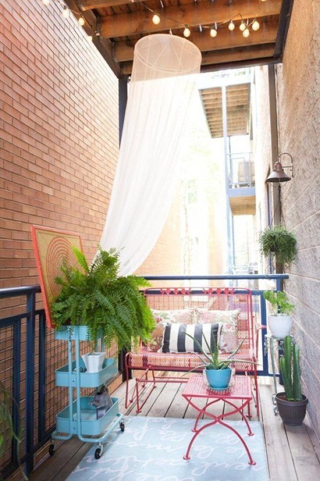 Small Balcony With A Mosquito Net