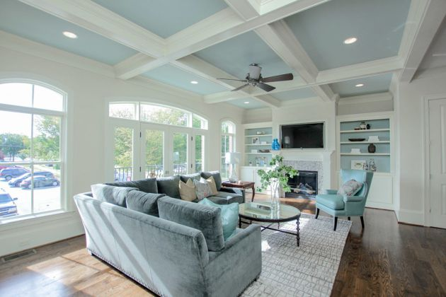 Traditional Turquoise Living Room Ideas By Simply Home LLC