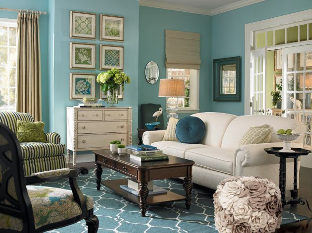 Traditional Turquoise Living Room Ideas By Surya