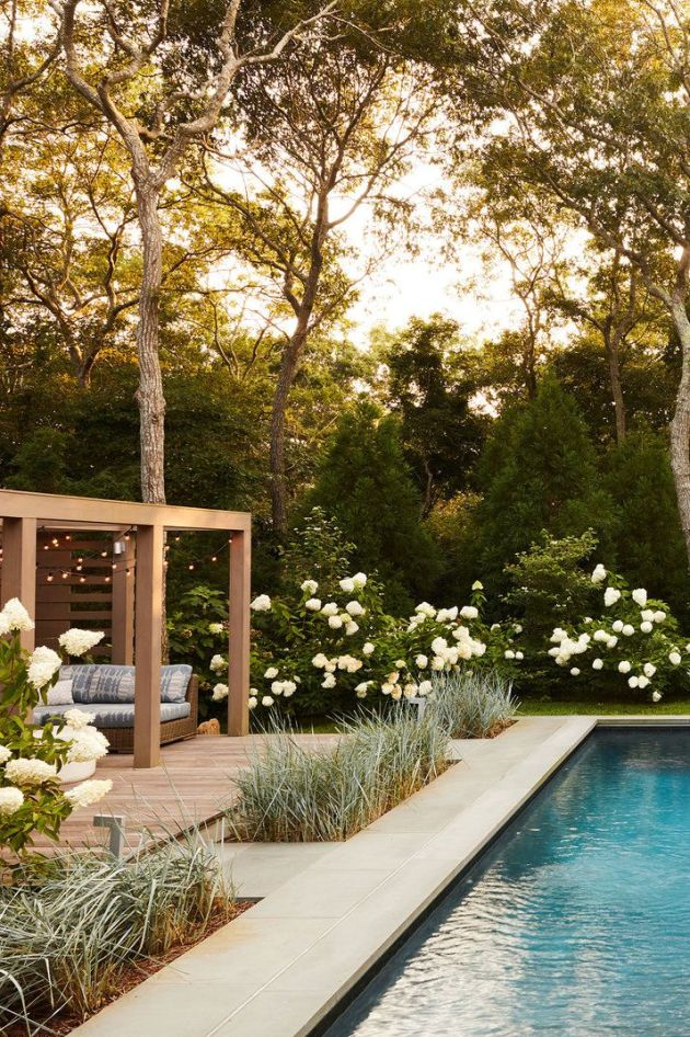 Backyard Patio Design Ideas With A Tile Path And Grass