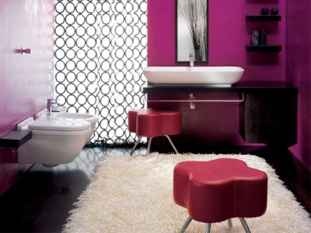 Bright Contemporary Space Done With Fuchsia And Purple
