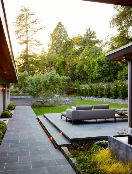 Contemporary Patio Design Ideas By David Thorne Landscape Architect