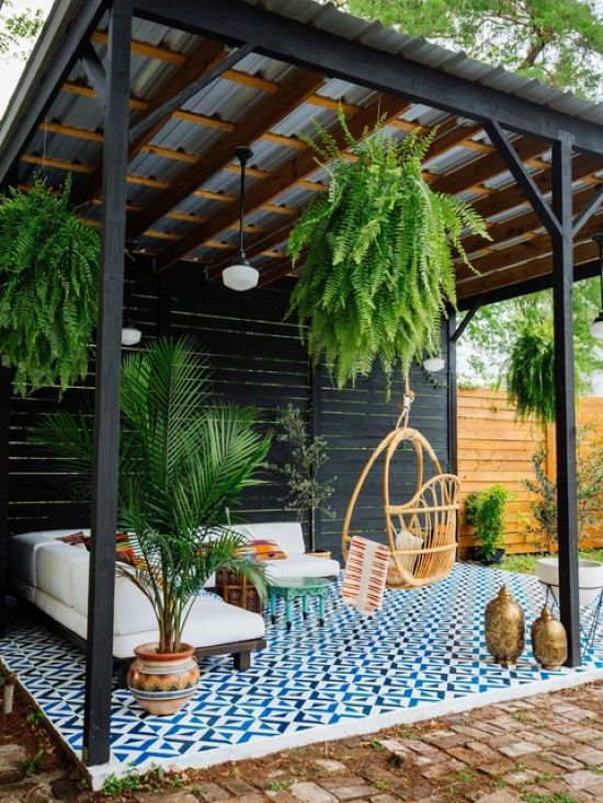 Eclectic Patio Design Ideas With Gazebo