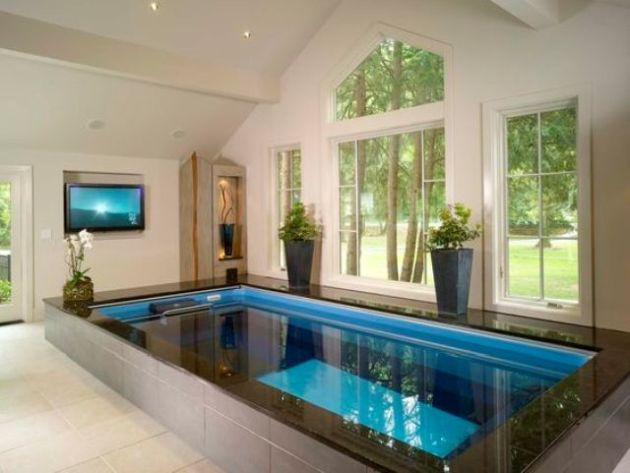 Indoor Pool In A Home Spa