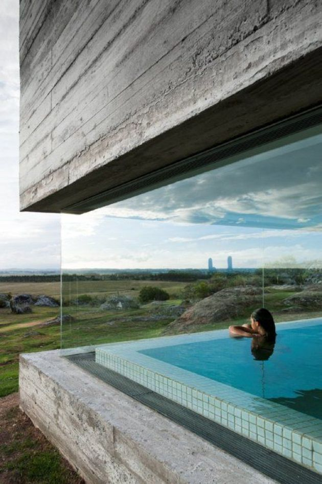 Indoor Pool With Stunning Views