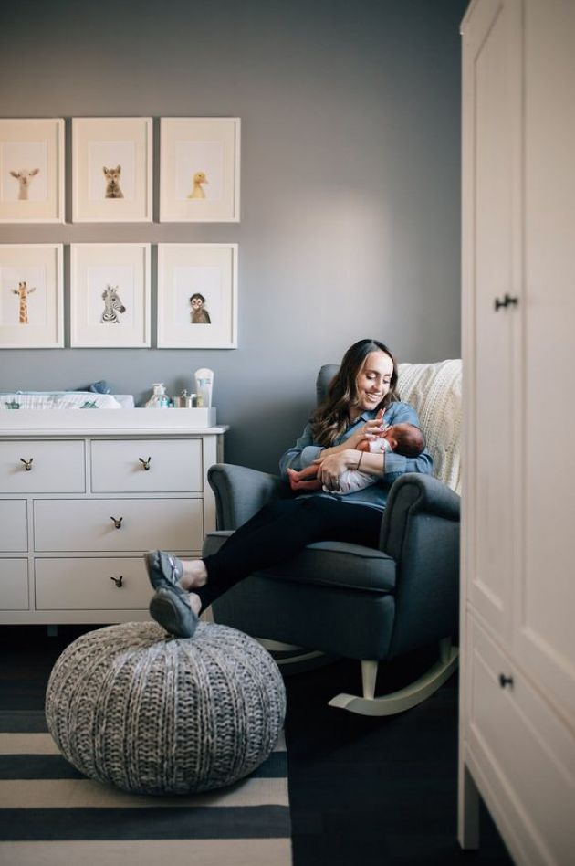 Nursery With Comfy Armchair With A Footrest