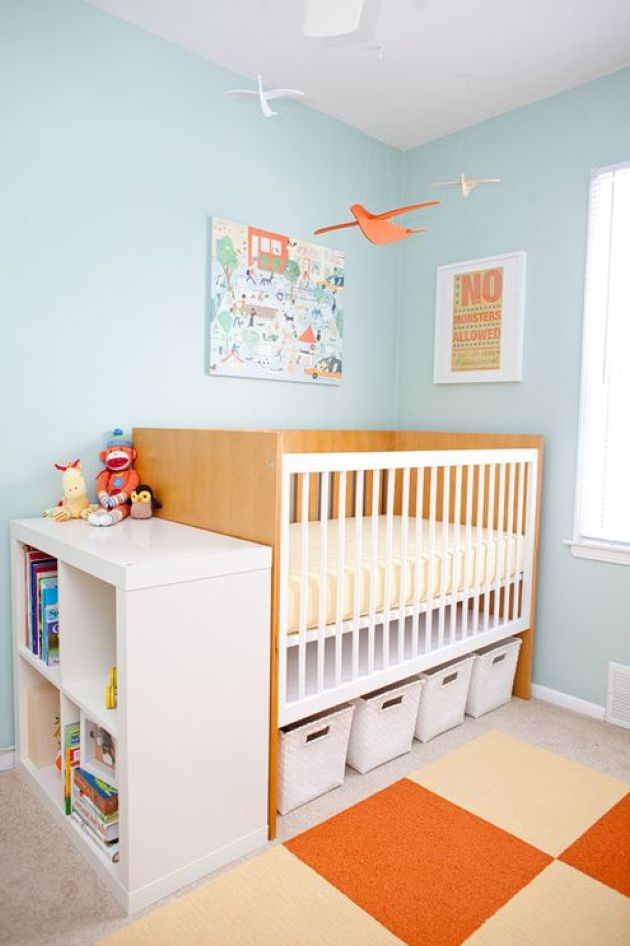 Nursery With Storage Cubbies