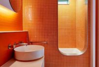 Orange Bathroom Design Ideas