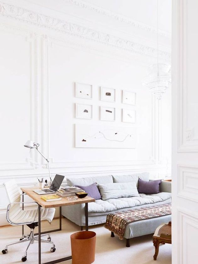 Parisian Living Room Décor With Modern Furniture