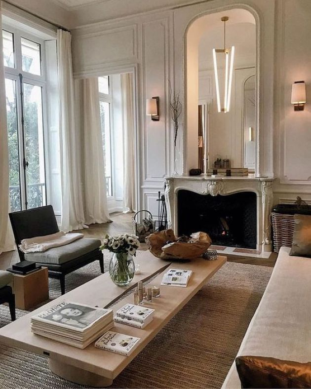 Parisian Living Room Done In Neutrals