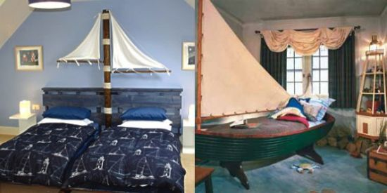 Sea-Inspired Kids' Room With Boats And Sails