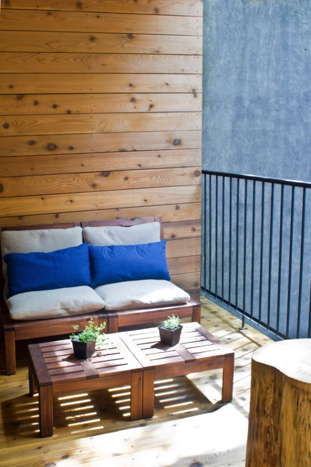 Small Balcony With IKEA's ÄPPLARÖ Series