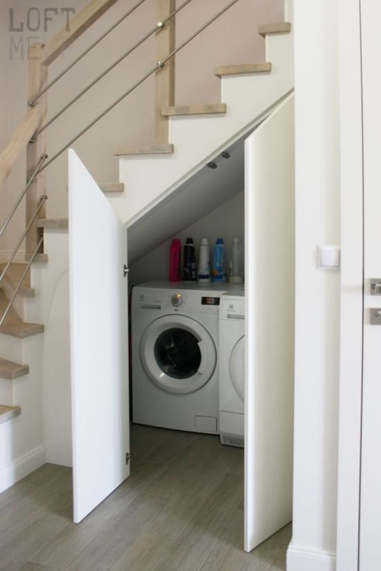 Small Laundry With A Washing Machine And A Dryer
