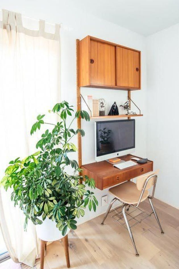 Small Wall-Mounted Unit With A Closed Cabinet Plus A Shelf And A Drawer