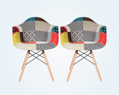 Colorful Patchwork Kitchen Chairs