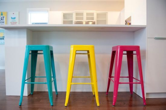 Modern Colorful Barstools In Multiple Shades Add Brightness