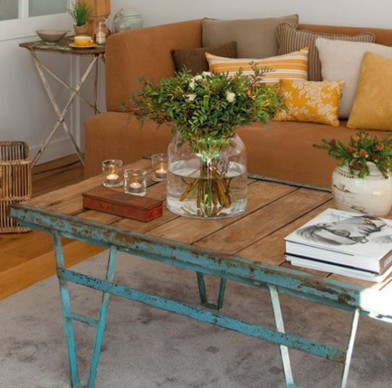 Shabby Chic Coffee Table With A Wooden Top