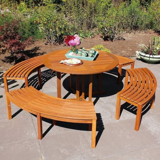 Curved Indoor Outdoor Dining Bench