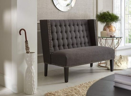 High Backed Upholstered Dining Bench