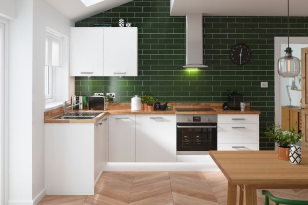 L-Shaped Kitchen Design Ideas From Pikcells