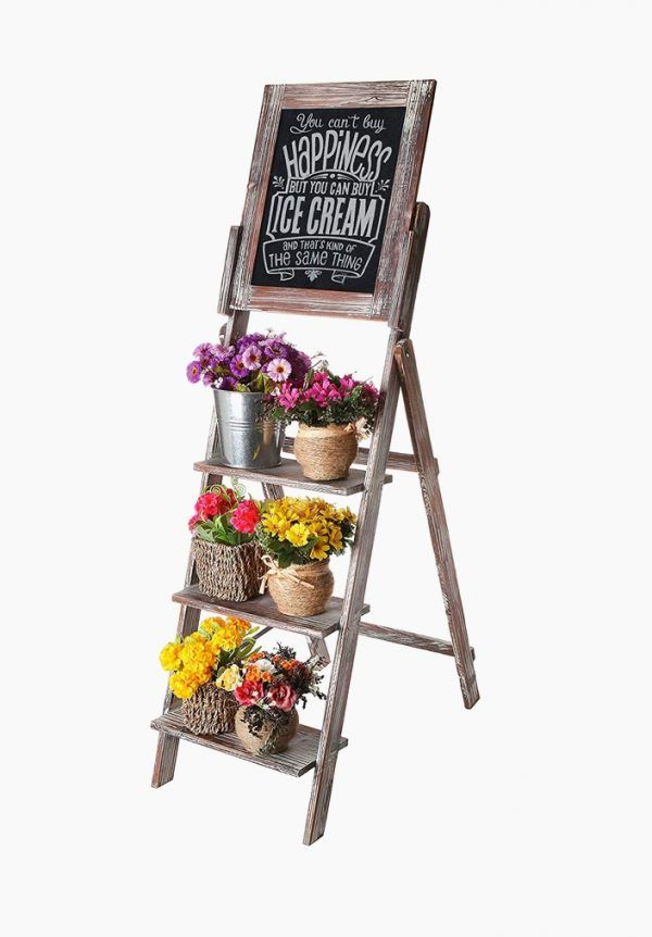 Ladder Shelf With Chalkboard