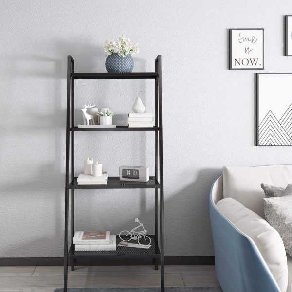 Metal 4-Tier Ladder Shelf