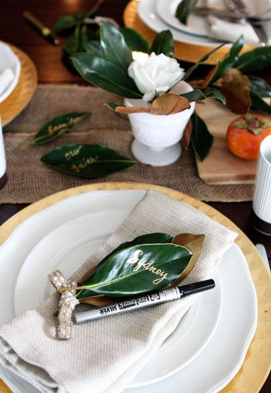 A Modern Rustic Table Setting With A Burlap Runner Foliage Simple Plates And Chargers