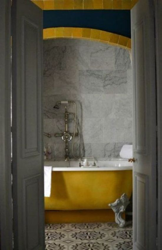 Fall Bathroom Decor Ideas With A Mustard Shade