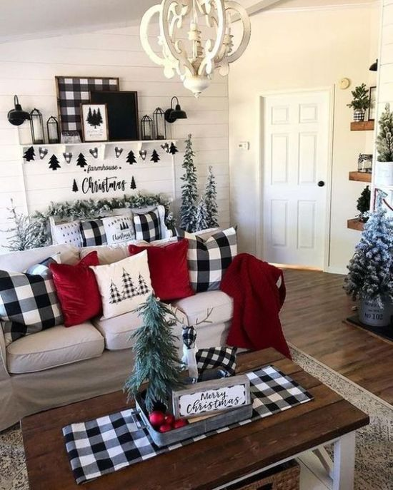 Bold Christmas Decor With Artwork And A Mix Of Black And White