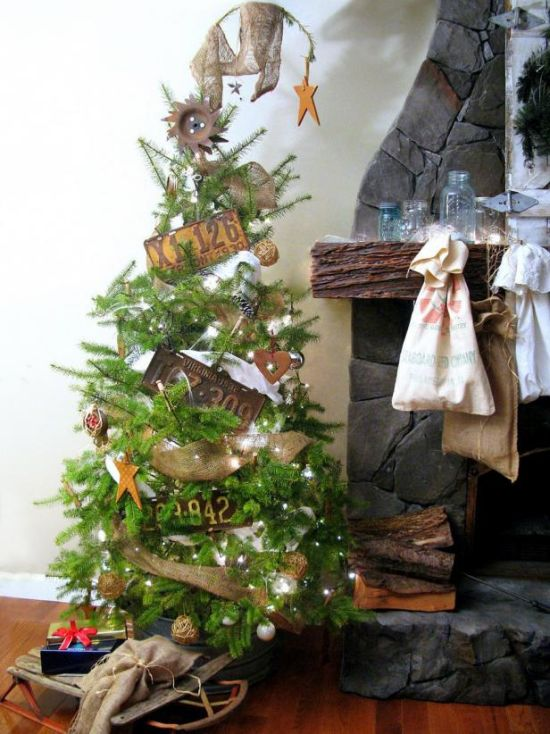 Christmas Tree Decorating Idea With Household Items