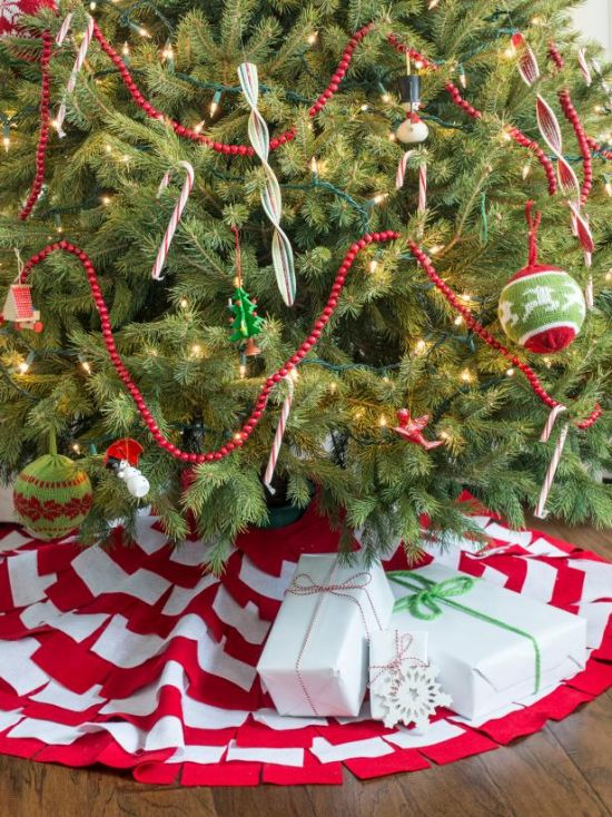 Christmas Tree Decorating Idea With Packaged Candy With A Long Shelf Life