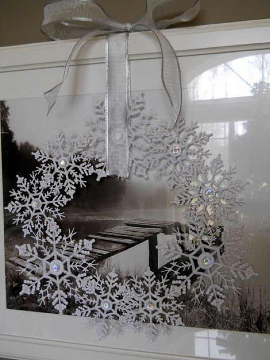 Crystal Snowflake Winter Decor Idea