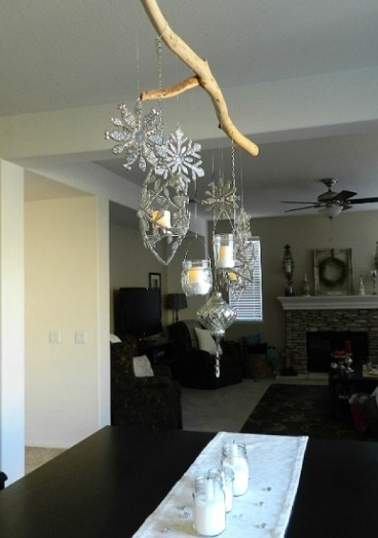 Hanging Snowflake Winter Decor