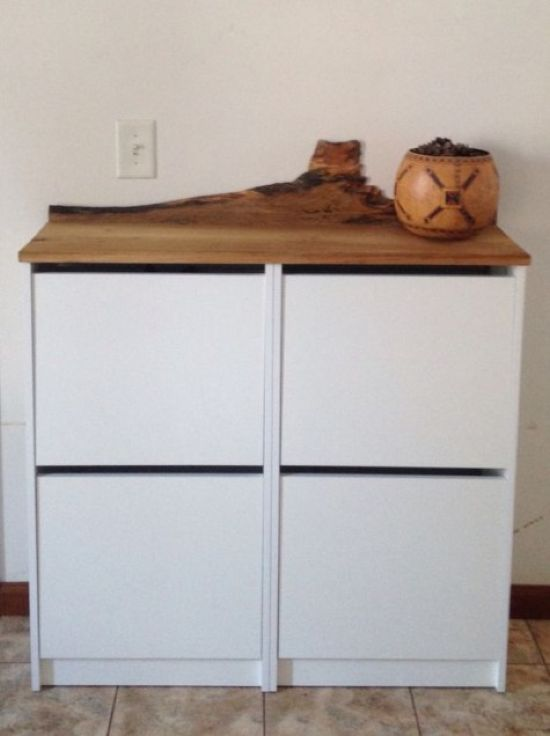 IKEA Bissa Hack With A Wooden Living Edge Countertop