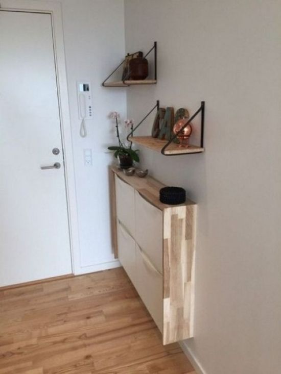 IKEA Trones Item With A Plywood Waterfall Countertop
